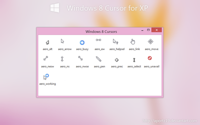 Windows 8 Cursor for XP by aportz19