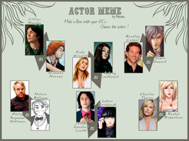 Cast Your OCs - Actor Meme by kamiki