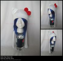 Fleece Hat: Hello Kitty by Serenity-Sama