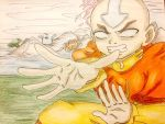 Avatar the last Airbender: Avatar state Aang  by artdemaurialashawn21