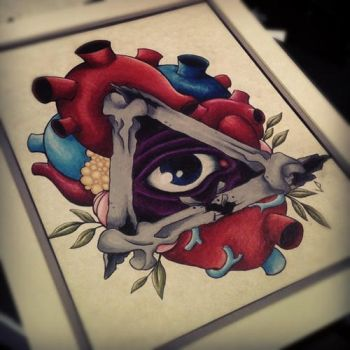 all seeing eye heart by JakeShunt
