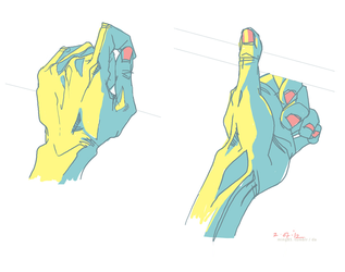 Left hand sketch by ming85