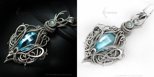 ARDAMERIEELH Silver, blue Quartz and Labradorite by LUNARIEEN