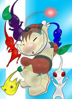 Olimar and his Amazing Friends by DemonSabin