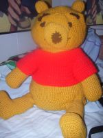 Crocheted Pooh bear by Miskumi