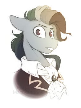 I know those eyes, this man is dead by MarzKartoons