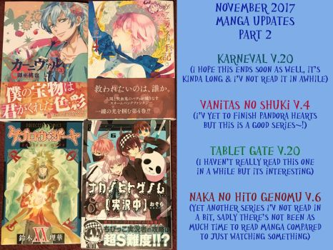 Manga Updates for November 2017 part 2 by LuffyNoTomo
