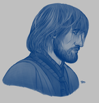 Monochrome Jaime Lannister study(ish) by teo4ever