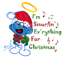 Lil' Brainy is Smurfin' Ev'rything For Christmas by acla13