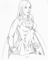 My Supergirl sketch by Geminice