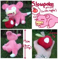 Slowpoke plush (with apple) for sugarstitch