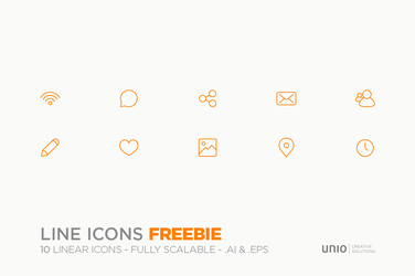 Line Icons - Freebie by Nemed
