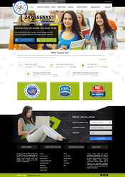 247 Essays Website Template by amoeed