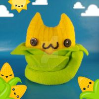 Corn on the Claw Cat Food Plush by Elfedward