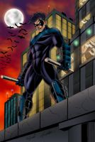 Nightwing Colored by CliffEngland