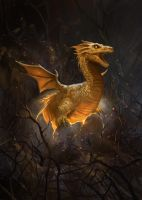 Dragon Hatchling by gerezon