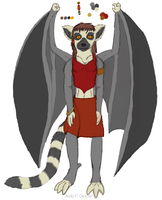 Maki the Lemur Gargoyle by Quachir