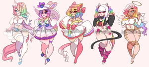 (CLOSED) Rainbow Curvy Adoptables.o46 by Mymy-TaDa