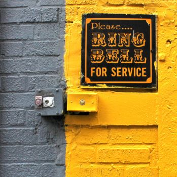 Ring Bell Grey And Yellow by JJPoatree