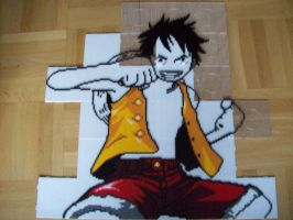 Monkey D. Luffy Bead Sprite 3. by TameFlame