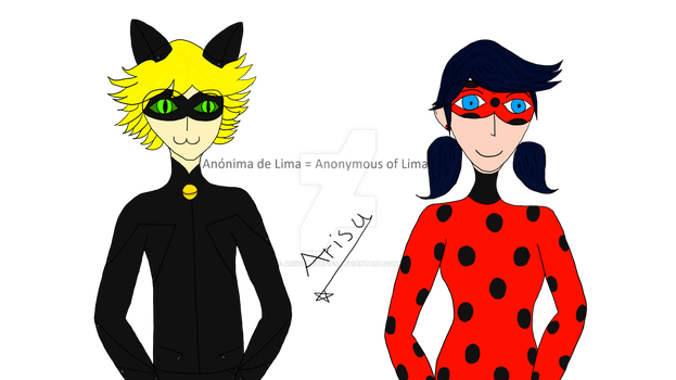 Chat Noir and Ladybug by AnonimadeLima