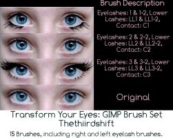 Transform Your Eyes: Brush Set by thethiirdshift