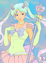 Colored LineArt: Sailor Pastel Moon by Gou-kun