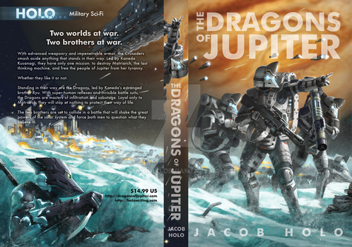 The Dragons of Jupiter Book Cover 2 by hpholo