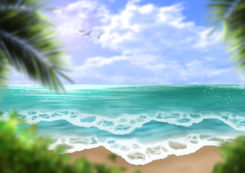 Free Beach Background II by SweetLittleVampire