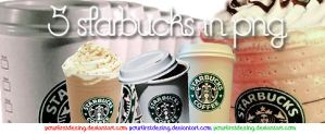 5 starbucks in png by yourfirstdesing