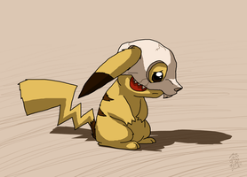 A Leaf from Cubone's Book - Pikachu by DragonwolfRooke