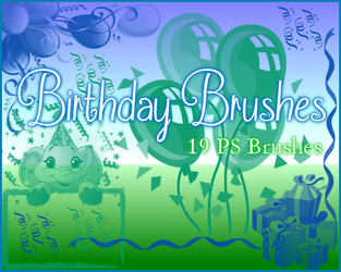 PS Birthday Brushes by Illyera