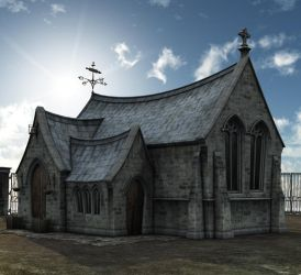Chapel background day by indigodeep