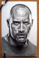 The Rock Pencil Drawing by AtomiccircuS
