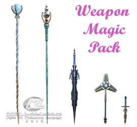 Weapon Magic PNG 3D FREE! by MLauviah