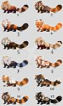 Lil red pandas ($7 all closed) by mydlas