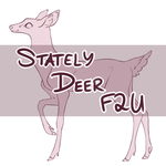 F2U Stately Deer Base by BasedFera