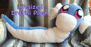 LifeSized Dratini Plush by CeltysShadow