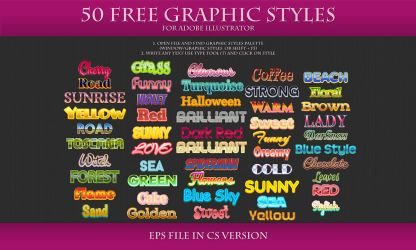 50 FREE Styles for Adobe Illustrator by Love-Kay