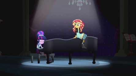 Twilight and Sunset at the piano EG2 by rosewitchcat