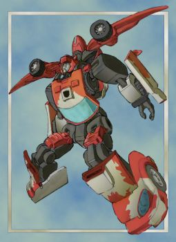 Leap of the Cliffjumper by kerfufflecolor