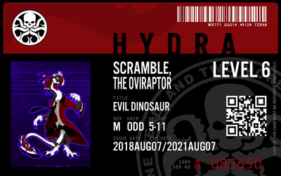 Hydra agent scremble the oviraptor by connorm1