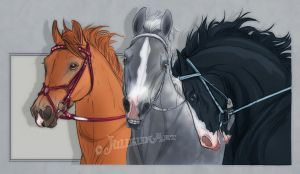 Portrait of Thoroughbreds by Jullelin