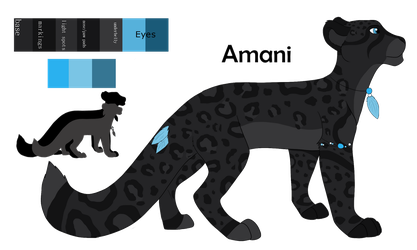 Amani Ref Sheet by TheRealBlackLion