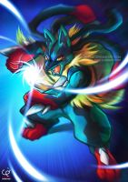 UNLEASH THE AURA WITHIN!!! MEGA LUCARIO! by CHOBI-PHO