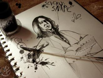 Crush on Severus Snape by kleinmeli