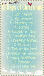 13 Days of Christmas PROMPTS by edwardsuoh13