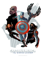 Winter Soldier Poster by joeymasonart