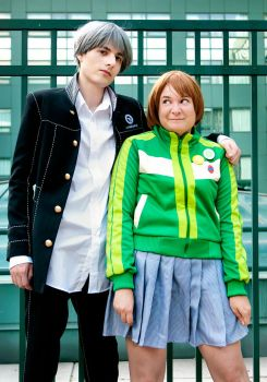Persona 4 - Yu and Chie by BLUEsteelProductions