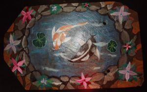 Koi pond on Shale by KenshinKyo